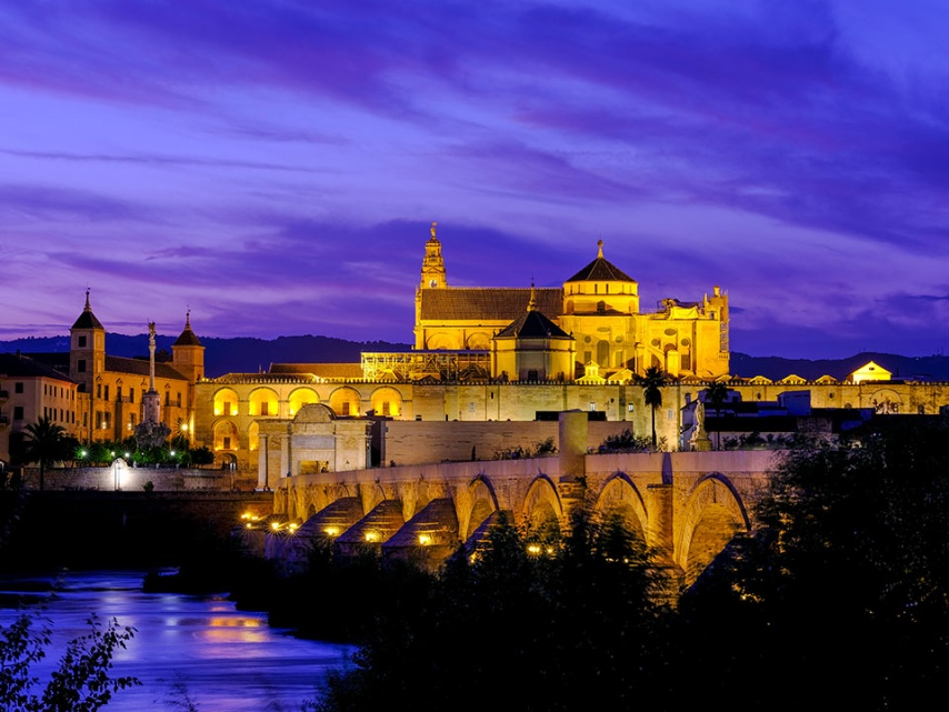 Roman Bridge Cordoba at sunset